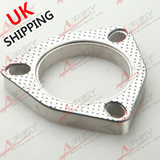 "A SET OF 2.25"" 3-BOLT Exhaust Flange and Exhaust Gasket  For 3 Bolt Flange UK"