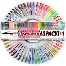 60 UNIQUE Colors Gel Ink Pens New Colors Adult Coloring Pens: Top Quality Pens!