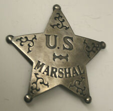 Large US MARSHAL Star Badge 5 points Heavy Reproduction