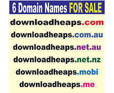 Lot of 6 Domain Names for Sale, www.downloadheaps.com_.au_nz_net_.me_.mobi