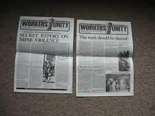 2 Vintage WORKERS UNITY Organ Of SOUTH AFRICAN Congress Trade Unions 1978 Rare