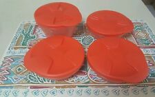 Tupperware Small Duo Bowl Set with 4 pieces - NEW - Orange.