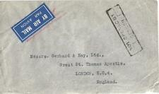 INDIA, 1941 KGV1 AIRMAIL COVER TO UK, NOT OPENED BY CENSOR CACHET