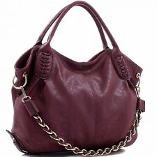 KATHY PURSE, HANDBAG -  CONCEALED CARRY GUN, CCW FAUX BURGUNDY LEATHER w HOLSTER