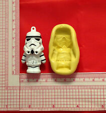 Star Wars Stormtrooper Silicone Push Mold A812 Candy Chocolate Craft Fondant Wax