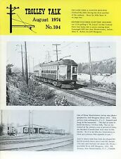 Trolley Talk Magazine August 1974 No 104 British Columbia electric railway