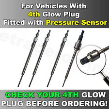 4 X Vauxhall INSIGNIA 2.0 CDTi GLOW PLUGS Vehicles Fitted With Pressure Sensor