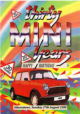 Thirty Mini Years Event At Silverstone 1989 UK Market Leaflet Brochure