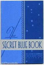 10 H.C. Evans 1932 Secret Blue Book 1978 Reprint Catalogs-Slots & Gambling Items