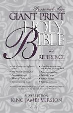 KJV Giant Print Reference Bible, Personal Size Silver Edition