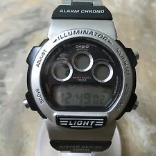 Vintage Casio W-728H Mens LCD Digital Alarm Chrono Watch Hours~Light~New Battery