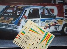 DECAL CALCA 1/43 RENAULT R5 COPA RED RENAULT MADRID C. SAINZ COPA RENAULT ' 83