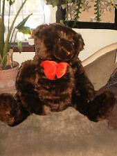 "Goffa Int, cute HUGE Teddy Bear, dark brown, appx. 29"" sitting"