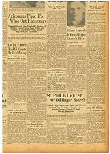 Newspaper ST. PAUL DILLINGER SEARCH GHANDI ATTACKED April 27 1934 3005102WR