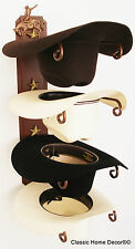 American Made Cowboy Hat Rack with Stars Powder Coated Rust with Bronc Rider