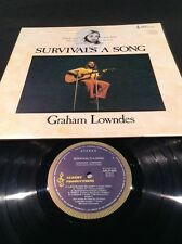 APLP 004 GRAHAM LOWNDES SURVIVAL'S A SONG  LP RECORD  EARLY ALBERT PRODUCTIONS