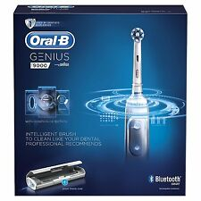 Oral B Genius 9000 Electric Rechargeable Toothbrush Powered by Braun (White)