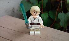 "Custom Star Wars Luke Skywalker A NEW HOPE 1.75"" Minifigure + Lego Brick"