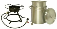 NEW Extra Large 50-Quart Outdoor Turkey Deep Fryer Stockpot & Propane Burner Set