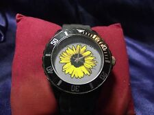 Woman's Carefree Natural  Watch with Sunflower Face**Nice** B24-Box 03