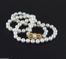 Mikimoto 18K Yellow Gold 69 AA Akoya 5-5.5mm Cultured Pearl 16'' Strand Necklace