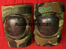 USGI Military Bijan Tactical Protective KNEE PADS Paintball CAMO WOODLAND M VG