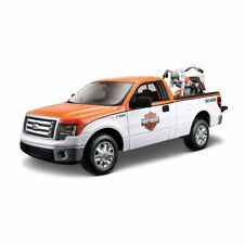 Maisto Model - Harley Davidson Ford F-150 Pickup With Flh Duo Glide Car - M32173