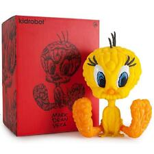 "YELLOW LOONEY TUNES MARK DEAN VECA TWEETY BIRD 8"" VINYL FIGURE KIDROBOT"