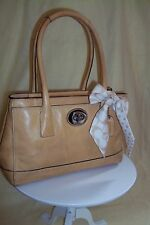 Coach Leather Purse Monogram Scarf Shoulder Bag Authentic - Free shipping in USA