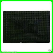 Single Universal Heavy Duty Rubber Car Mat [EQ37] 50cm x 35cm Black Single