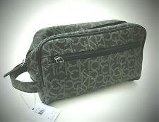 $65 NEW men's CALVIN KLEIN CK black dopp shaving kit travel toiletry bag