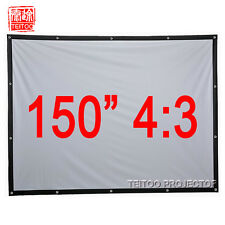 "150"" 4:3 Portable Projection Screen Canvas Material for HD LCD LED DLP Projector"
