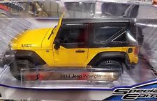 Maisto 2014 JEEP WRANGLER WILLYS YELLOW 1:18 DIECAST