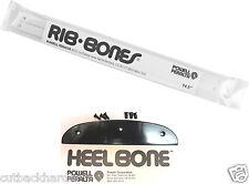 Powell Peralta Skateboard WHITE CLEAR RIBS RAILS HEEL BONE Tail Part 2PC SET NEW