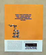 E807- Advertising Pubblicità -1994- ALPINE CAR AUDIO