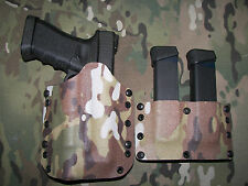 Kydex Glock 17/22/X300 Holster & Double Mag pouch/ MULTICAM/ right handed.