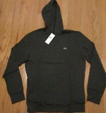 Mens Authentic Lacoste Lightweight Hoodie/Hooded T-Shirt Dark Gray 5 Large