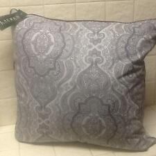 "Ralph Lauren Paisley Colchester Blue Grey Throw Toss 22"" Square Feather Pillow"
