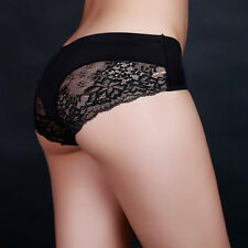 Black Size M Women Comforty Silk Lace Sexy Underwears Seamless Panties Briefs