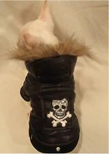 Tough Dog Skull Faux Fur DOG COAT/DOG JACKET/DOG CLOTHES/chihuahua/XS,S,M,L