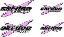 SKI-DOO Team X LIGHT PINK Logo 4 PACK vinyl decal and window sticker graphics