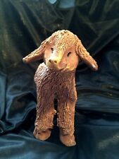 Pottery figurines of Smiling Lamb, Rabbit and Boar Signed