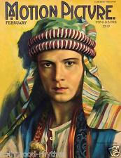 RUDOLPH VALENTINO Stunning MOTION PICTURE Magazine Cover 11x14 Print Feb 1922