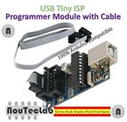 AVR USB Tiny ISP Programmer Module USB Download Interface Board with 6 Pin Cable