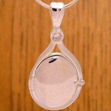 Solid 925 Sterling Silver H2O Just Add Water Mermaids White CZ Pendant Locket