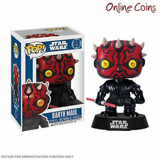 STAR WARS - DARTH MAUL - FUNKO POP VINYL BOBBLE HEAD FIGURE - NEW IN BOX!