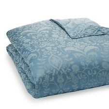 Sferra Bissero KING Duvet Comforter Cover Cotton Jacquard Cadet Blue Italy NWT