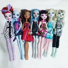 Monster High Doll - Lot of 7 Mattel Draculaura Frankie Lagoona Ghoulia Clawdeen