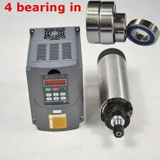 1.5KW AIR-COOLED SPINDLE MOTOR FOUR BEARING ER16 AND 1.5KW INVERTER DRIVE 220V
