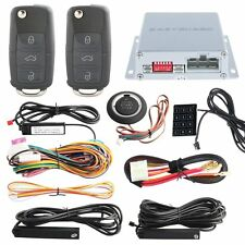 Universal PKE Car Alarm kit passive keyless entry system Remote Start spare key